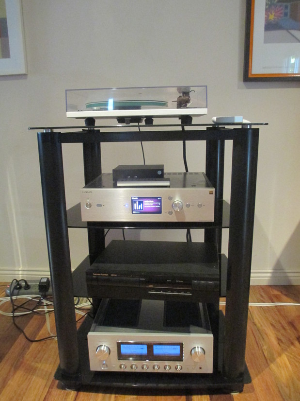 Audio tower with Sony HAP z1es music server