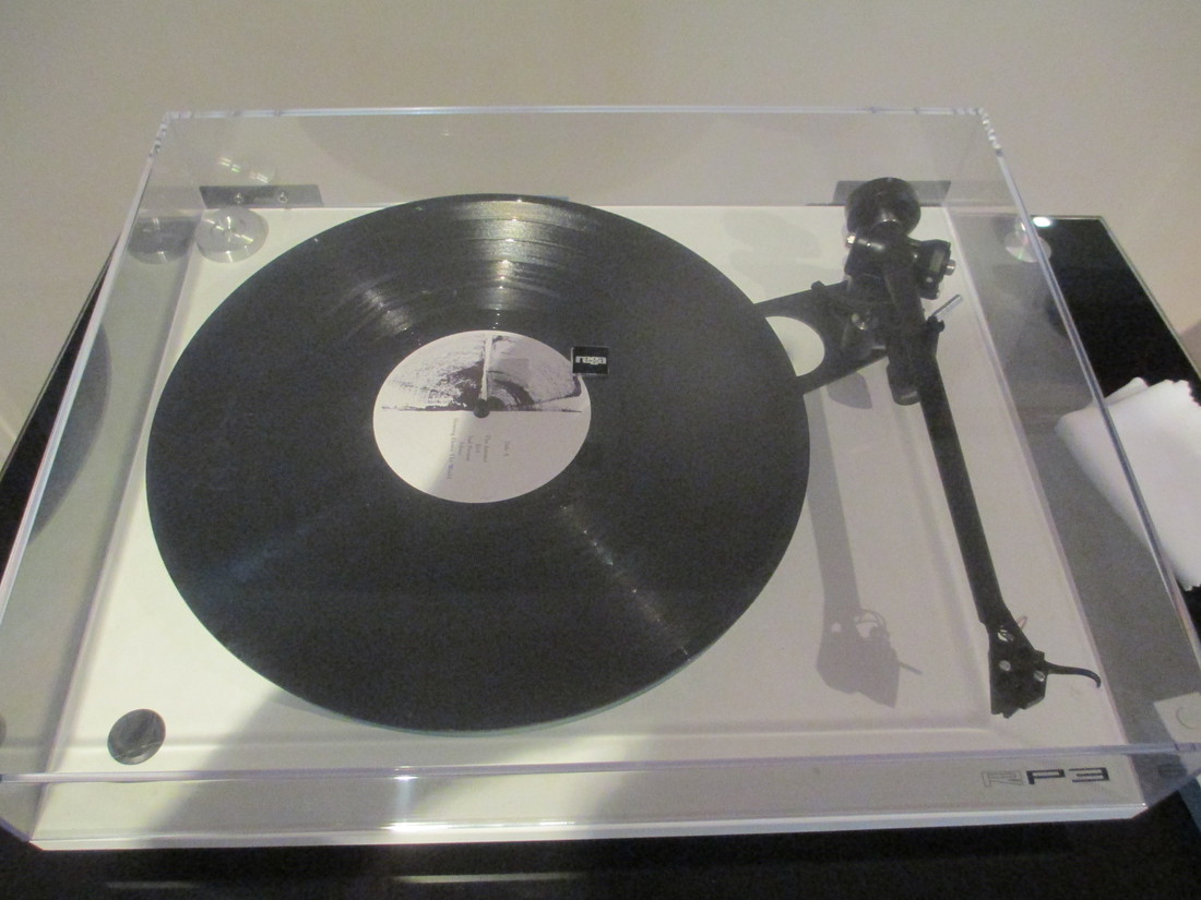 Rega RP3 with outboard power supply and Ortofon black cartridge