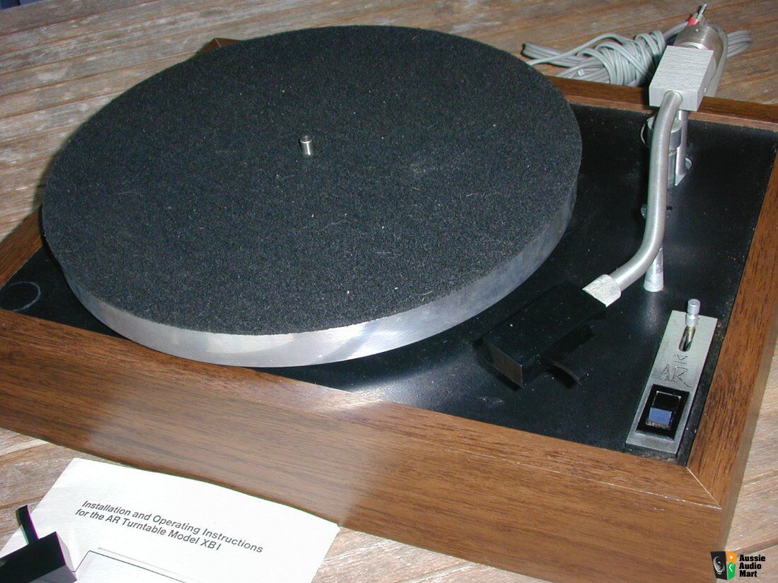 Acoustic Research AR XB1 Turntable, base and cover, Audio-Technica